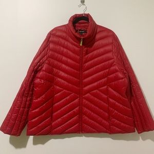 Ellen Tracy Red Down Packable Jacket 3X